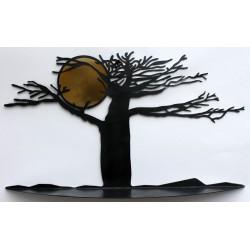 étagère murale moderne étagère design noire décoration murale arbre et soleil