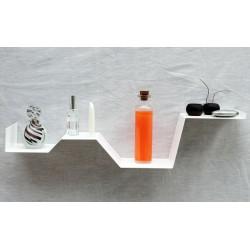 étagère murale design étagère salle de bain tablette murale vecteur design