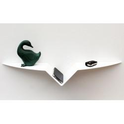Etagère murale blanche tablette design étagère moderne création vecteur design