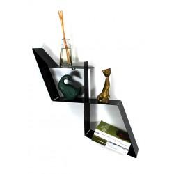 Etagère murale moderne en métal étagère noire design et décorative