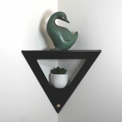 Etagère d'angle noire moderne en métal une étagère de coin design