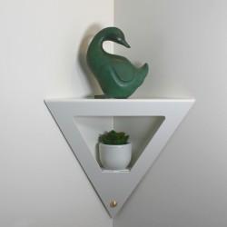 Etagère de coin design une étagère d'angle moderne et décorative étagère murale acier