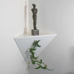 Etagère d'angle blanche étagère de coin moderne étagère salon design