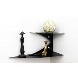 étagère murale d'angle étagère de coin noire design