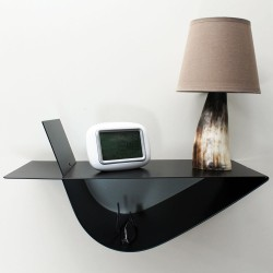 table de chevet murale chevet de lit suspendu design noir table de nuit moderne vecteur design