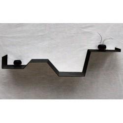 étagère murale moderne étagère design étagère noire zig vecteur design